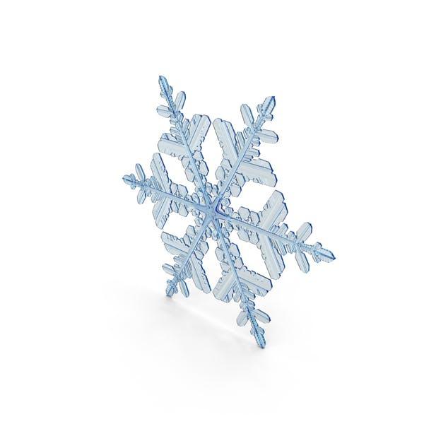 Snowflake Deep Blue