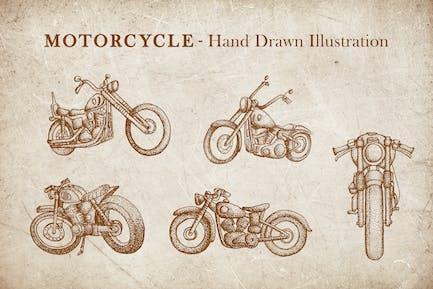 Vintage Illustration - Motorrad