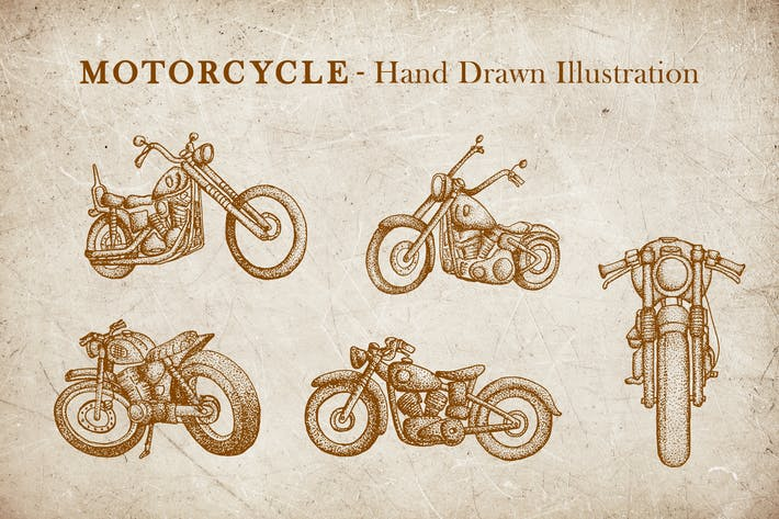 Thumbnail for Vintage Illustration - Motorcycle