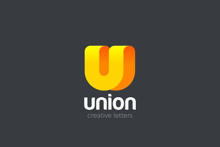 Thumbnail for Logo U Letter Ribbon style