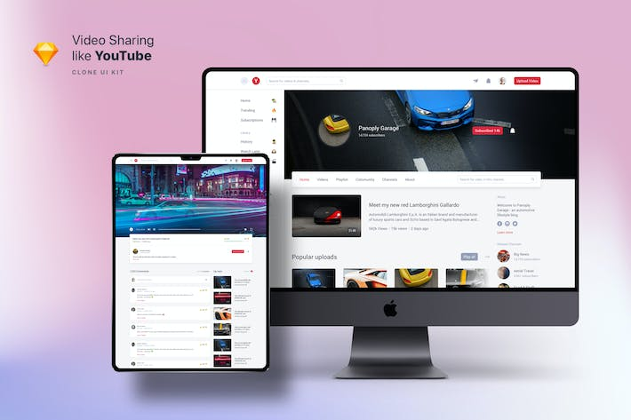 Cover Image For Clone UI Kit - Video sharing like YouTube