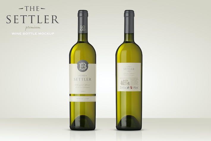 Thumbnail for Premium White Wine Mockup
