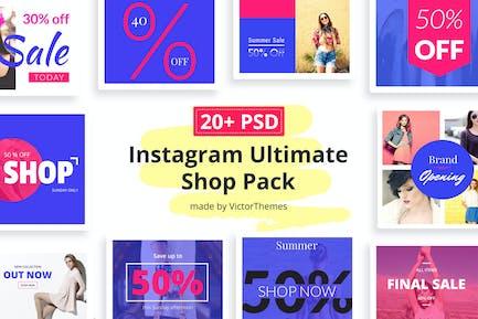 Instagram Social Media Shop Pack