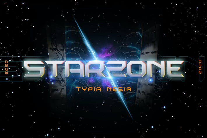 Thumbnail for Starzone - SciFi Game Font