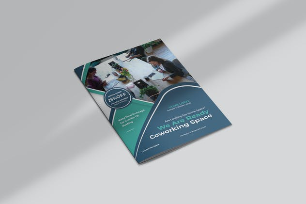 Coworking Space Bifold Brochure