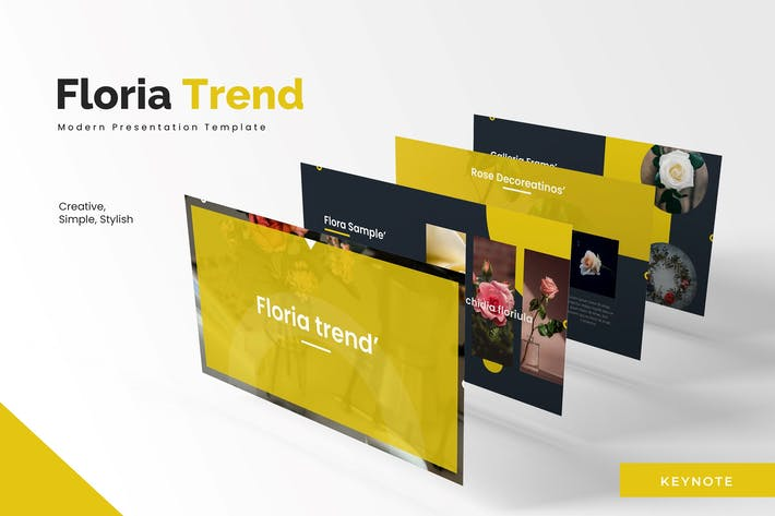 Thumbnail for Floria Trend - Шаблон Keynote