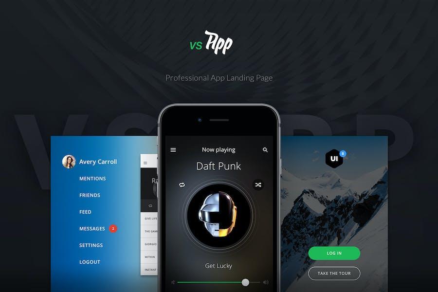 VSApp - Ultimative App Zielseite