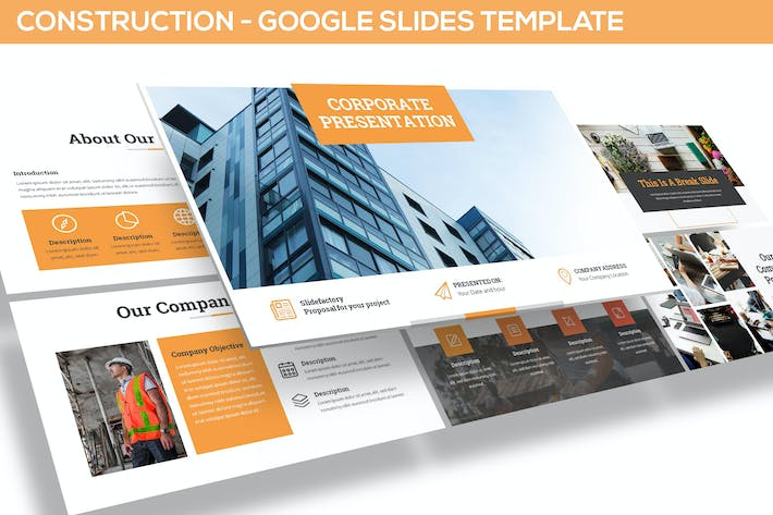 Thumbnail for Construction Google Slides Template