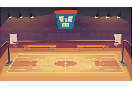 Basketballplatz - Illustration-Hintergrund