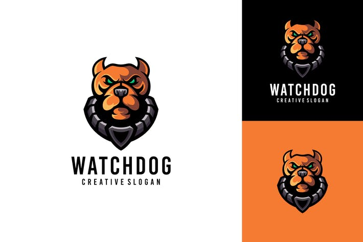 Thumbnail for Dog Head Logo Template