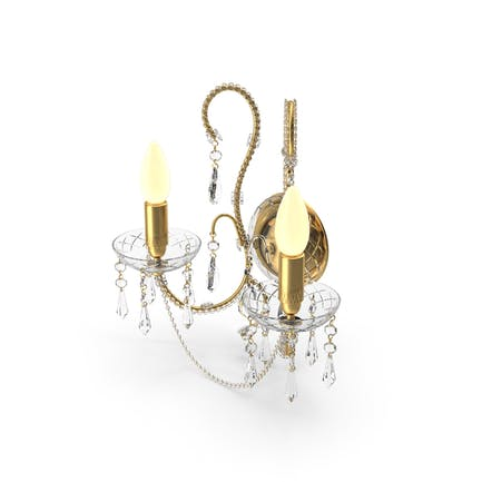 2 Glühbirnen Wandkristall Klassisch Lampe