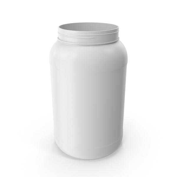 Botella de plástico de boca ancha galón blanco