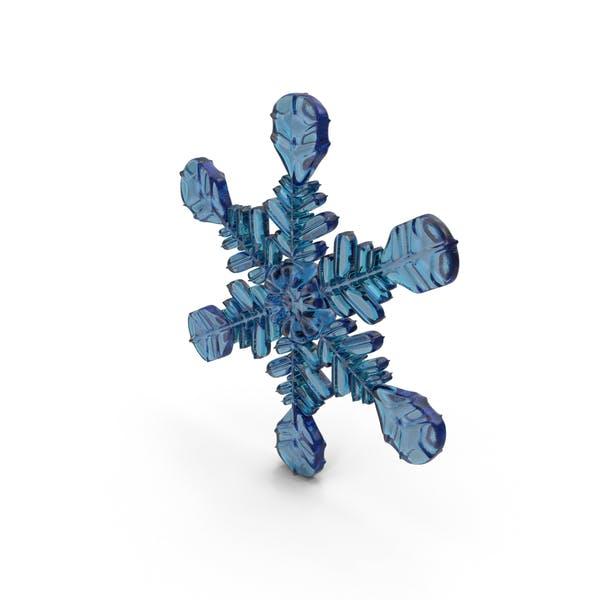 Снежинка Синий