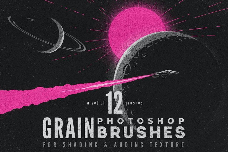 Grain Volume I Photoshop Brushes
