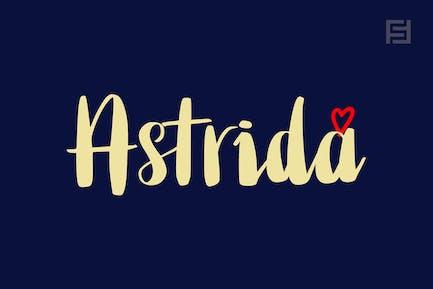 Astrida - Unique Handwritten Brush Font