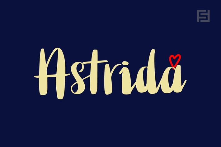 Astrida - Unique Handwritten Brush Font