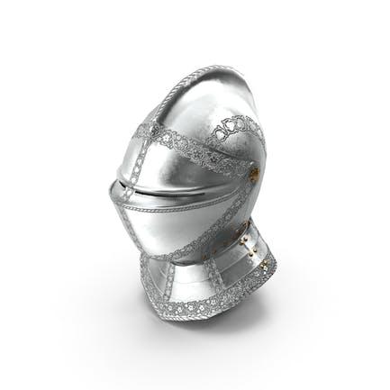 Casco de armadura medieval