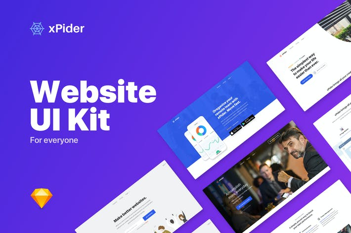 Thumbnail for xPider - Website UI Kit