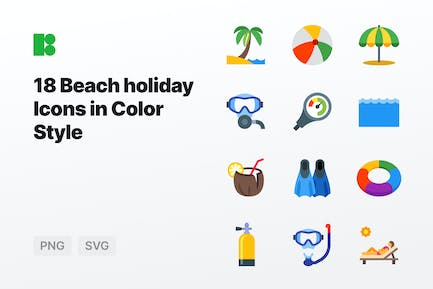 Color - Beach holiday