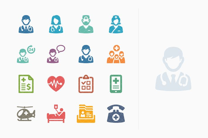 Thumbnail for Colored Medical Services Icons Set 1- Sympa Series