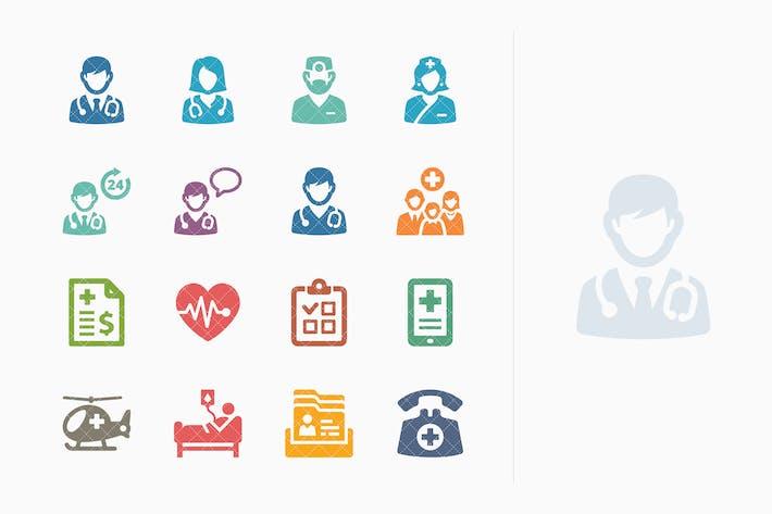 Thumbnail for Kit de Íconos de servicios Medicina de color 1- Sympa Series