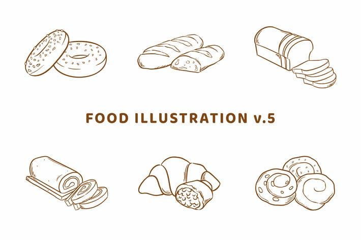 Thumbnail for Food Illustration V.5 (Outline Version)