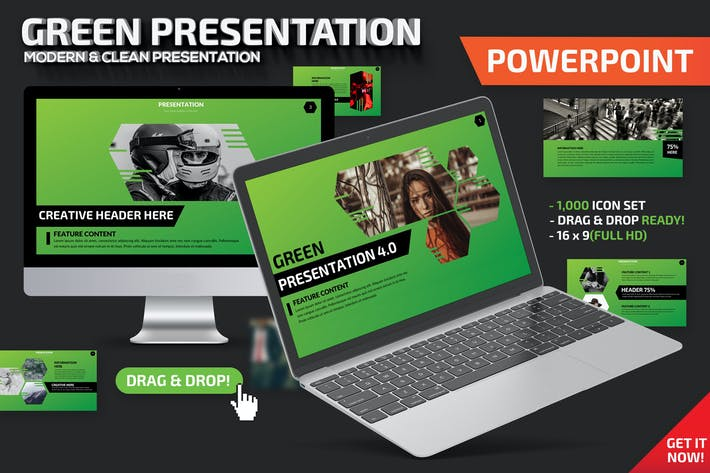 Thumbnail for Green Powerpoint Presentation Template