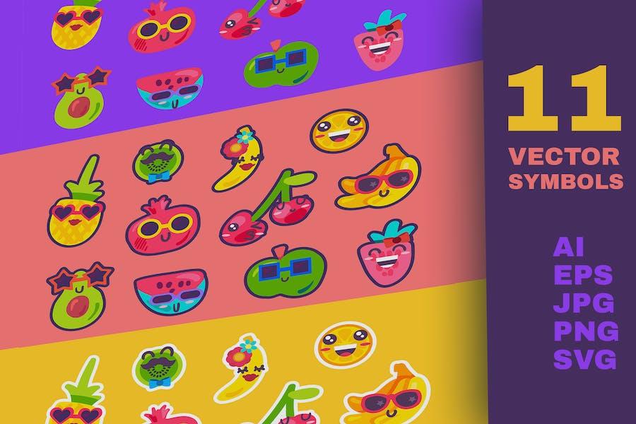 Summer Fruits Emoji Set