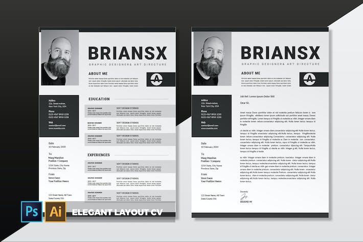 Thumbnail for Elegant Layout | CV & Resume