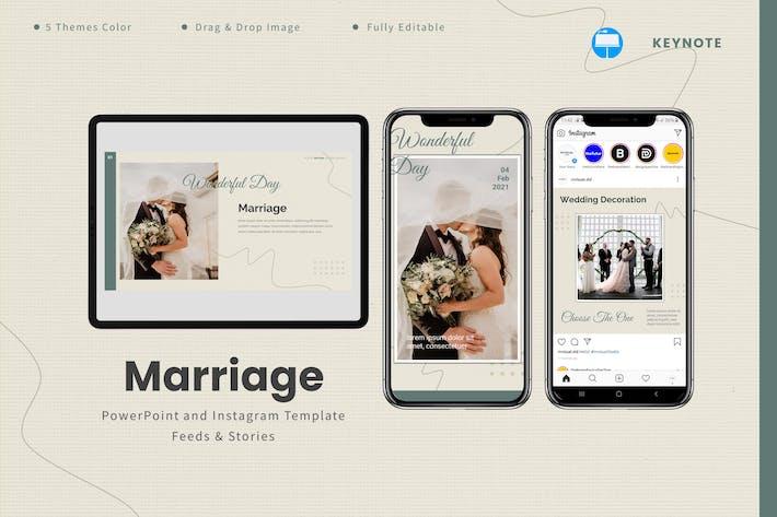 Marriage  - Keynote & Instagram Template