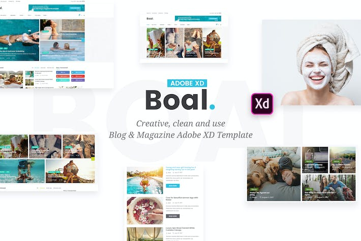 Thumbnail for BOAL - Magazine & Personal Blog Adobe XD Template