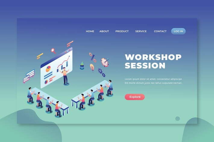 Thumbnail for Workshop Session - PSD and AI Vector Landing Page