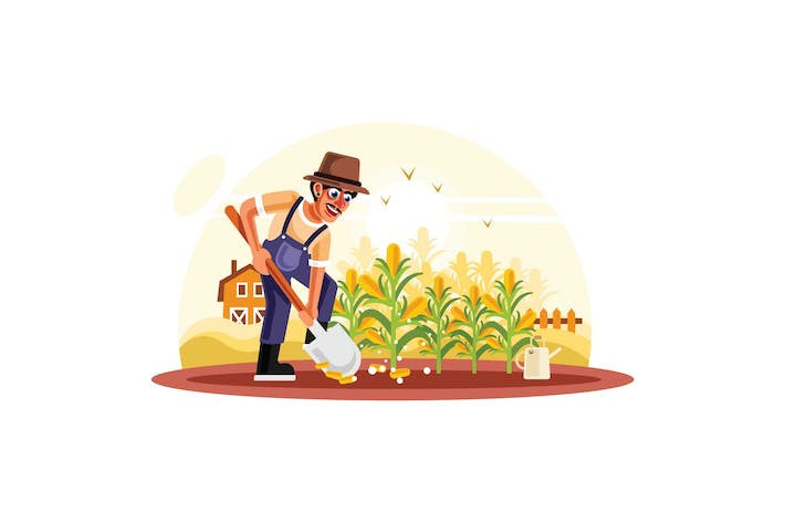 Thumbnail for Farmer in Corn Field