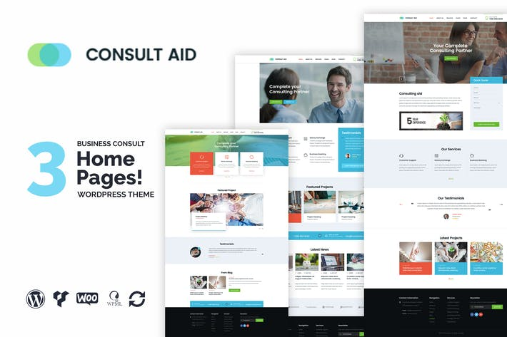 Thumbnail for Consult Aid Business Consulting & Finance WP Theme