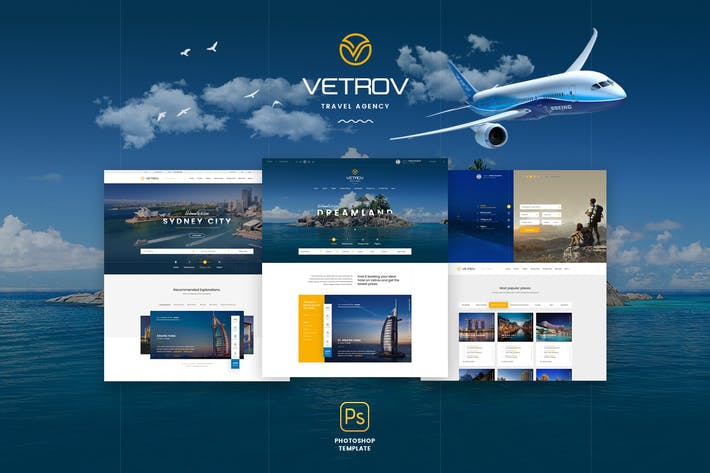 Thumbnail for Vetrov - Tours & Travel PSD Template