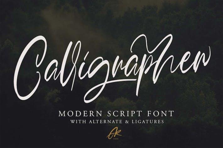 Thumbnail for Calligrapher   Modern Script Font