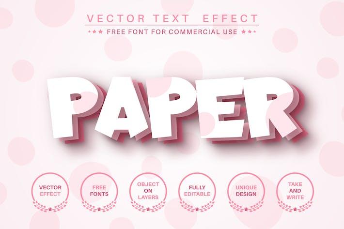 Бумажный лазер - редактируемый текстовый эффект, стиль шрифта