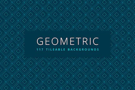 Geometric | 117 Tileable Backgrounds