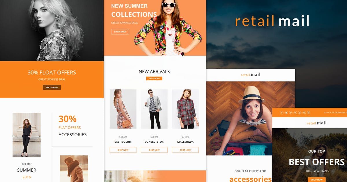 Retail Mail - Responsive E-mail Templates set by williamdavidoff