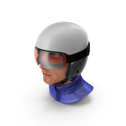 Skier Head in Helmet