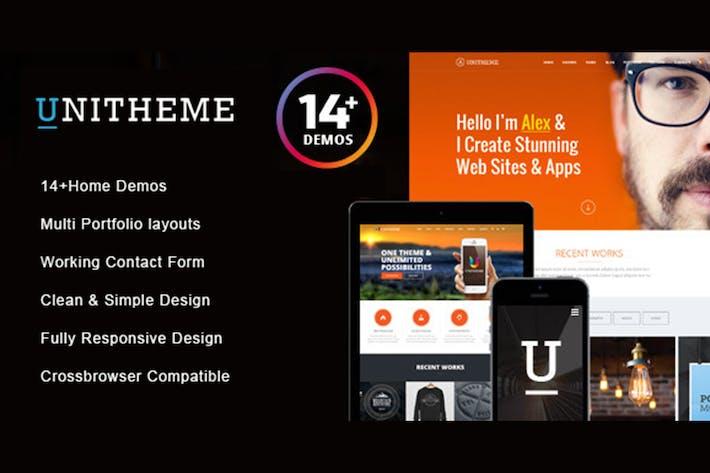 Thumbnail for UniTheme - Responsive Multi-Purpose HTML Template