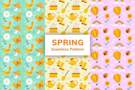 Frühling Nahtloses Muster
