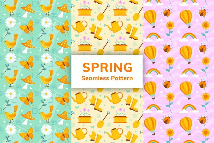 Thumbnail for Spring Seamless Pattern