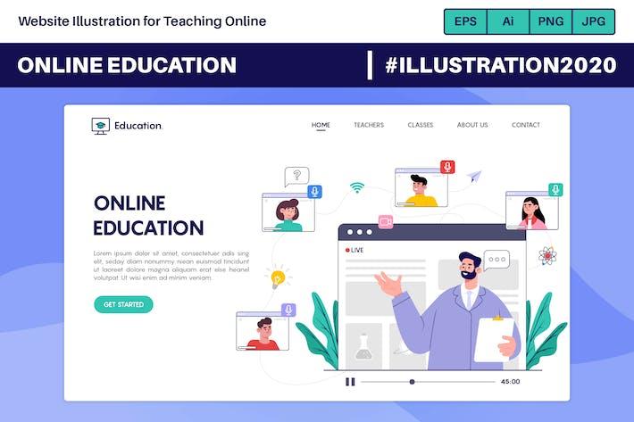 Thumbnail for Webseiten-Illustration für Online-Unterricht