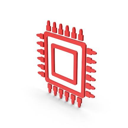 Symbol Microchip Red