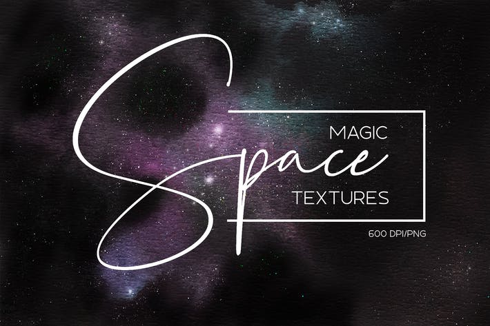 Thumbnail for Watercolor space cosmic backgrounds set