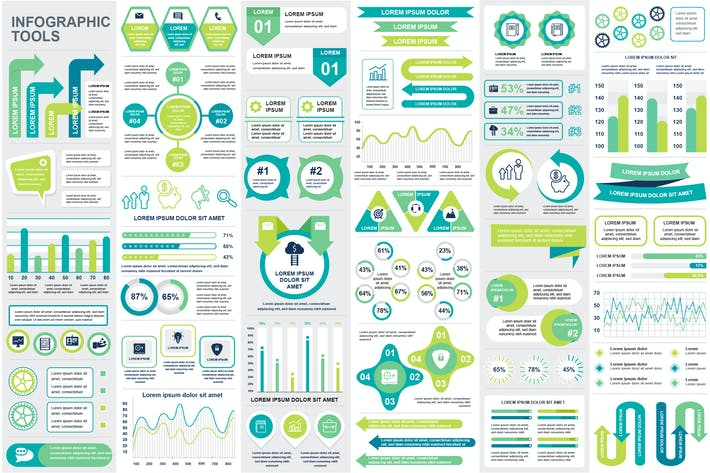 Cover Image For Collection Infographic Elements Template Graphics