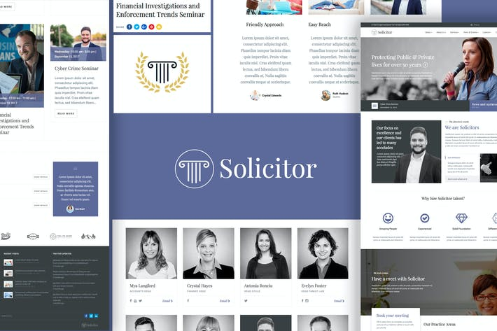 Cover Image For Solicitor Law Business Responsive WordPress Theme