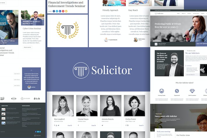 Thumbnail for Solicitor Law Business Responsive WordPress Theme