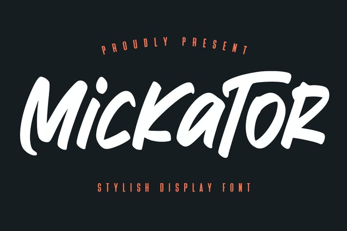 Thumbnail for Mickator Stylish Display Font